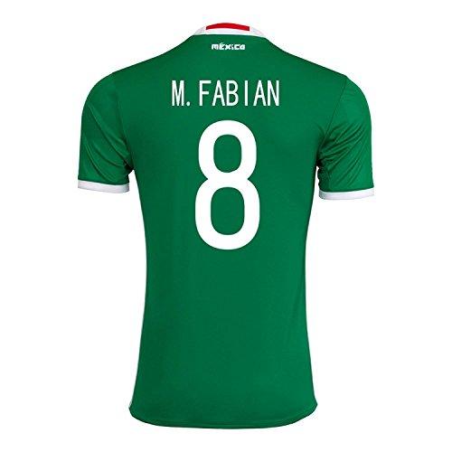 懲戒クローンハンディadidas M. Fabian #8 Mexico Home Jersey Copa America Centenario 2016 - YOUTH/サッカーユニフォーム メキシコ ホーム用 ジュニア向け (Y-Large)