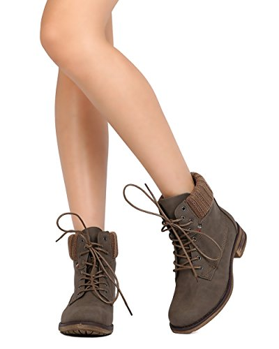 Suéter Con Cordones Mark Maddux Fd57 Para Mujer Con Cordones All Weather Botaie Taupe