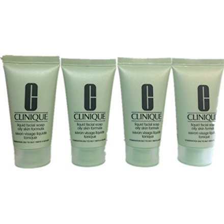 Clinique Liquid Facial Soap Oily Skin Formula 1oz/30ml*4=120ml/4oz Deluxe Sample