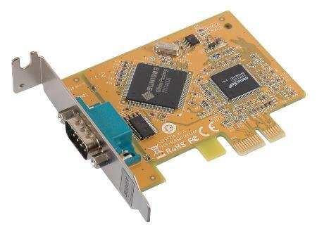Sunix 1-port RS-232 Serial PCI Express with both Regular Height and Low-Profile Brackets (SER6427A+L) by Sunix
