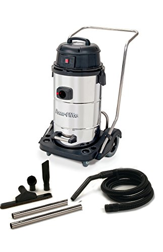 Powr-Flite PF53 Wet Dry Vacuum with Stainless Steel Tank and Tool Kit, 15 gal Capacity ()