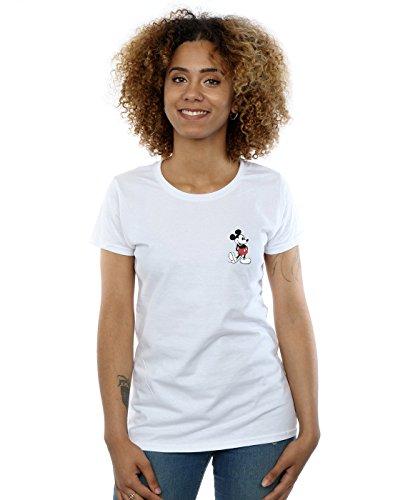 Kickin Disney Mouse Pocket blanca Mujer Retro camiseta Mickey wPPUt4