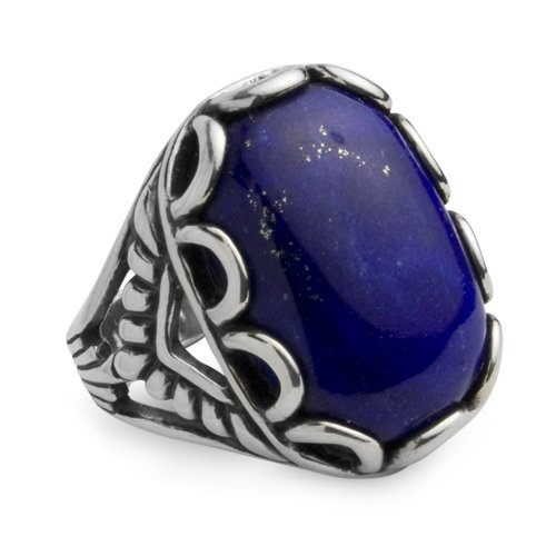 Southwest Spirit Sterling Silver Lapis Brilliant Blues Ring