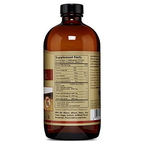Solgar Earth Source Organic Flaxseed Oil 16 fl oz (473 ml) Liquid