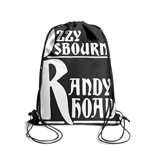Rhoads Strings Randy - Thdkgd Music Fan Drawstring Backpack String for Women/Men/Girls/Boys Gym Sports Fashion Athletic Sinch Sack Bag