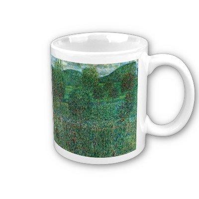 Garden Landscape by Gustav Klimt Coffee Cup