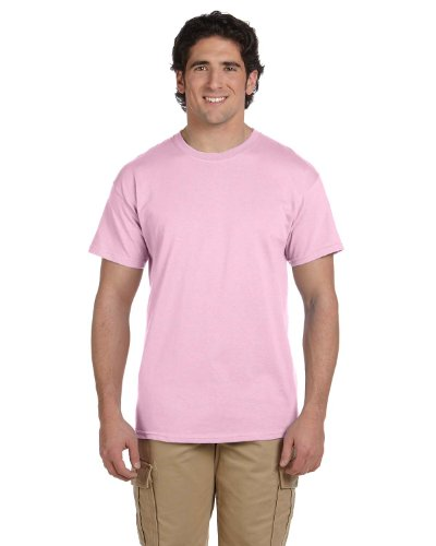 Fruit of the Loom 5 oz, 100% Heavy Cotton HD T-Shirt, Large, Classic Pink