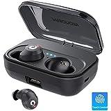 Bluetooth Earbuds Wireless Headphones Bluetooth Headset Wireless Earphones IPX7 Waterproof 72H Playtime Bluetooth 5.0 Stereo Hi-Fi Sound with 2200mAH Charging Case (Black)