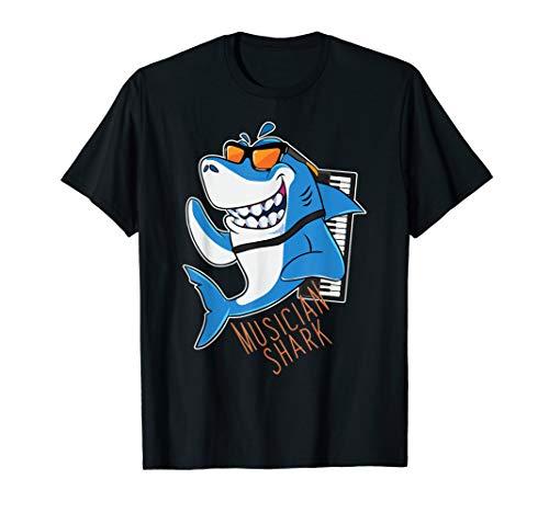 (Musician Shark Pianist Keyboard Keys Ivory Sea Animal)