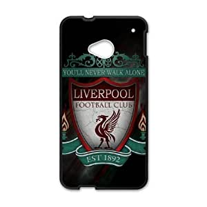 HTC One M7 phone case Black Liverpool Logo SSPP4853104