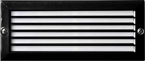 Dabmar LV601-B Louvered Step Light, 2-20W 12V Jc, Black Finish