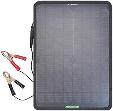 hemicala Tragbare Solar Panel 18 V 12 V 10 W Ladegerät Maintainer Bundle mit Stecker, Krokodilklemme für Automobile Motorrad Traktor Boot RV Batterien