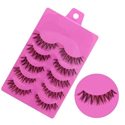 NewKelly 5 Pairs Fashion Natural Handmade Soft Long False Eyelashes Makeup Z-1