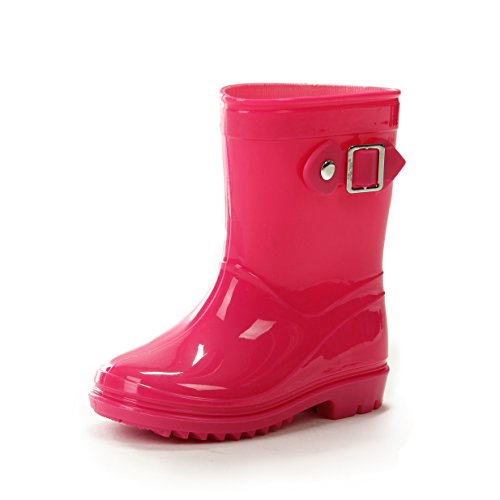 Silky Toes Kids Rain Boots (8.5 US Toddler, Pink)