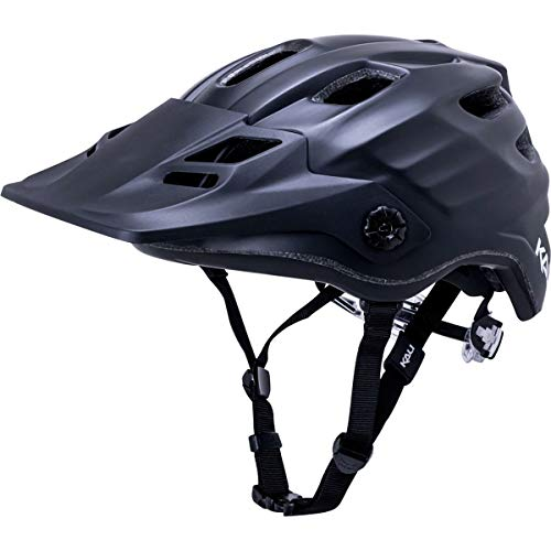 (Kali Protectives Maya 2.0 Enduro Helmet Solid Matte Black, S/M)