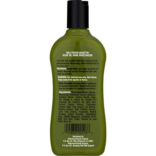Hollywood Beauty Olive Oil Moist Shine Moisturizing Hair Lotion, 12 oz Pack of 5