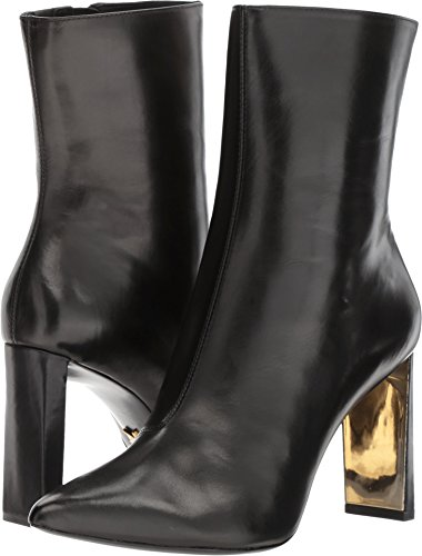 Donna Karan Women's Chelsea Mid Calf Boot Black Baby Calf 9 M US