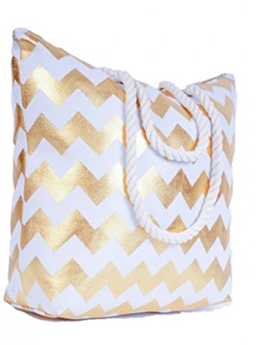 chevrons Beach Gold Bag Lorenz White Zigzag F7xBywzf