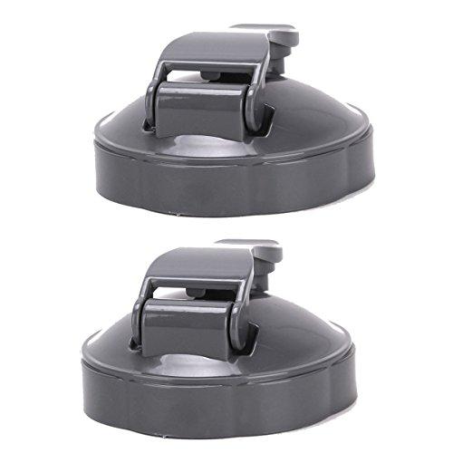 2-pcs Flip-Top To-Go Lid for NutriBullet Bullet Blender Juicer Cups 18o/24oz/32oz (32oz To Cups)