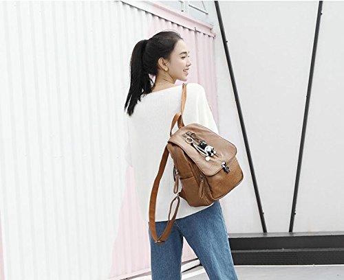 dos femmes dos à sac dos véritable Brown pour noir sac en cuir sac cuir ville à à quotidien occasionnel les sac dos Grand chaud sac à Moyen Vintage en 7xzqn4tUfw
