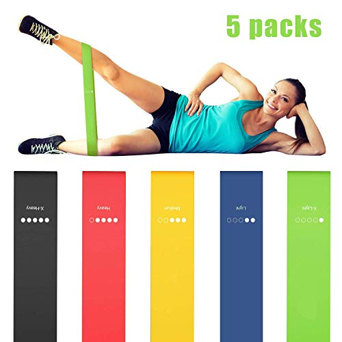 AB SALES Resistance Bands, Stretch Loops for Unisex for Fitness Workout, Gymming, Stretching, Glutes, Strength Training, Physical Therapy, Yoga and More with Mesh Carrying Bag, Pack of 5 (B07STJ46J1) Amazon Price History, Amazon Price Tracker