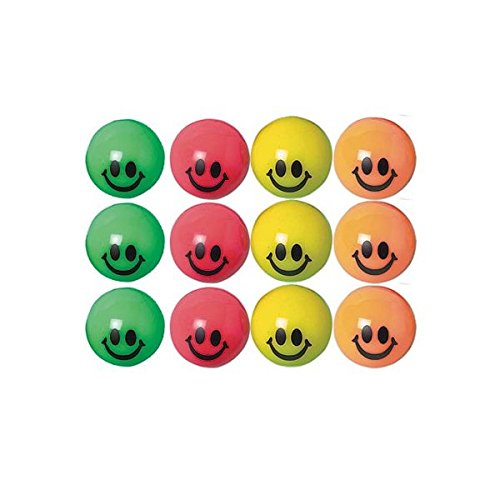 Fun Smiley Bounce Balls Party Toy Favour and Prize Giveaway, 35mm, Pack of (Halloween Costume Party Prize Ideas)