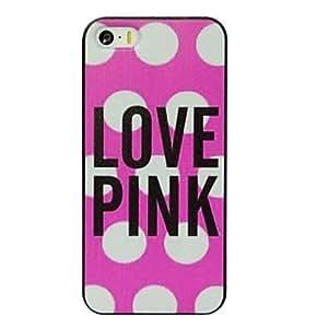 Mini - Elonbo J1C Love Pink Design Hard Back Case Cover for iPhone 5/5S