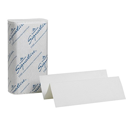 Georgia-Pacific 23000-1 Signature 2 Ply Premium C Fold Paper Towel, White, 120 Piece