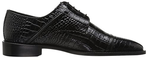 Stacy Adams Mens Chapeau Raimondo Toe Croc Imprimé Oxford Noir