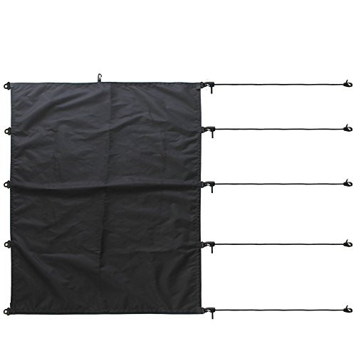 YYST kayak Cockpit Cover Drape Surfboard Cockpit Drape Kayak Cockpit Seal - Black - No Kayaks and (Boat Cockpit Cover)