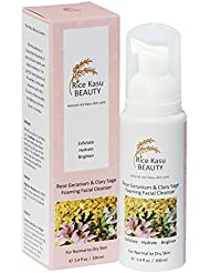 Rice Kasu Beauty Foaming Cleanser, Rose Geranium & Clary Sage, 3.38 Fluid Ounce