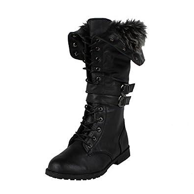 Amazon.com | West Blvd Women's Shanghai Winter Lace Up Boot | Mid-Calf
