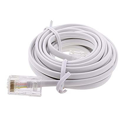 Amazon.com: Fenteer RJ11 ADSL To Ethernet RJ45 Modem Cable 8P 4C 6P 4C ASDL Patch Wire 4 Pin, Ethernet Telephone Cable RJ45 to RJ11 ASDL Patch Lead 10 feet: ...
