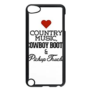 Love Country Music Cheap Custom Cell Phone Case Cover for iPod Touch 5, Love Country Music iPod Touch 5 Case