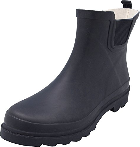 NORTY - Womens Ankle High Matte Finish Rain Boot, Navy 40677-10B(M) (High Rubber Boots)