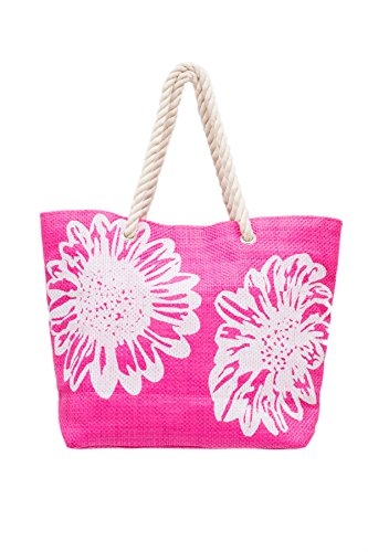 Beach Bag Tote Bags for Women Ladies Large Summer Shoulder Bag With Pocket Carrier Bag FlowerBeach Bag Tote Bags for Women Ladies Large Summer Shoulder Bag With Pocket Carrier Bag Flower -