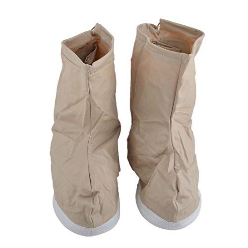 Peittää Pari Beige Suojus Likaa Märkä Meille Unisex 12 Liukumaton Vedenkestävä Dealmux Pvc Overshoes Kengät w1qPgx8v
