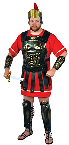 Roman Soldier Adult Mens Plus Size Costumes (UHC Men's Roman Soldier Warrior Armour Medieval Theme Halloween Fancy Costume, OS)