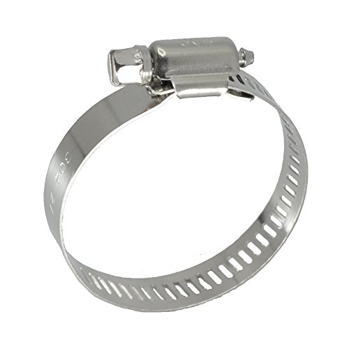 XRPAOWA Hose Clamp, 10 pcs/Pack, 304 Stainless Steel Clamps, SAE Size 56 Worm Gear Hose Clamps Power Seal, 1/2