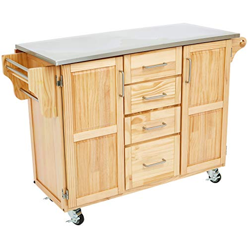 Ball & Cast Kitchen Cart, Stainless Steep Top ()