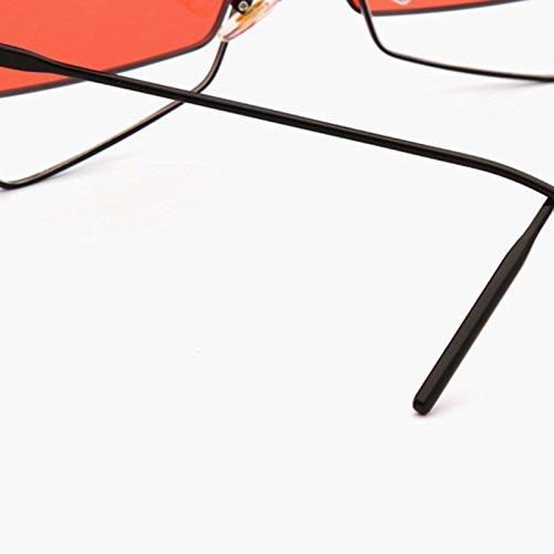 Coreanos De Sol Anteojos Marco Grandes Hip Gafas Doble De Amarillo Gafas Personalidad Rojo Red Femeninas De Nuevos Sol De Color La LIUXUEPING Hop Flip pqEtxIT
