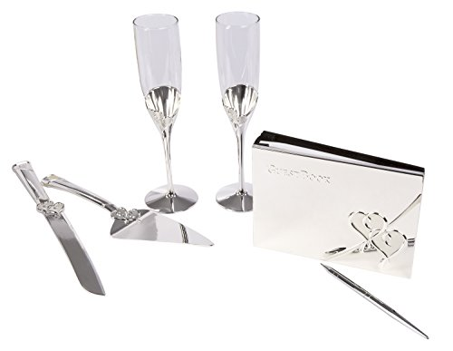 - Maven Gifts: Lenox True Love 2-Piece Dessert Set with True Love Crystal Flute Pair and Guestbook With Pen Silverplate