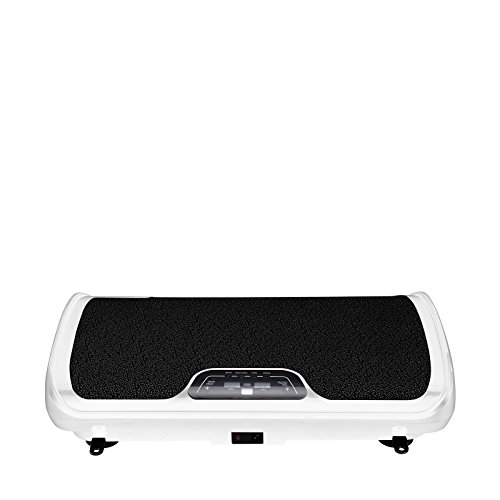VibroSlim Tone Vibration Platform Fitness Machine, Oscillating Vibration Trainer + Free Workout DVD, Wall Chart & Resistance Bands (White) by VibroSlim (Image #1)