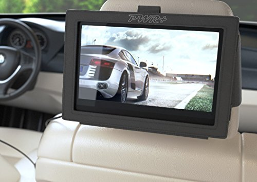"Pwr+ 9"" Car Headrest DVD Player Mount: Car Seat Holder Strap"
