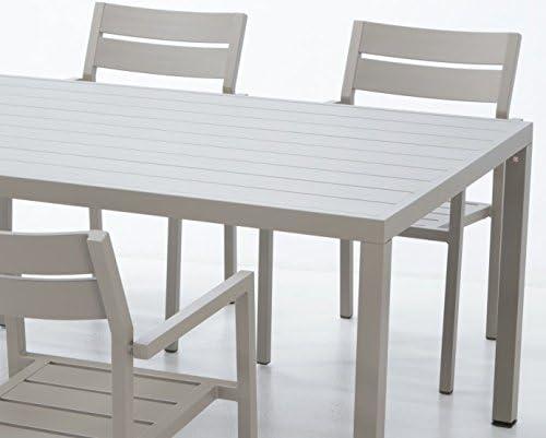 Conjunto de terraza lamas aluminio champagne Sand: Amazon.es: Jardín