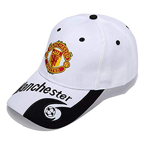 Manchester United Adjustable Authentic Embroidered Baseball Cap Soccer White Baseball Cap New Season