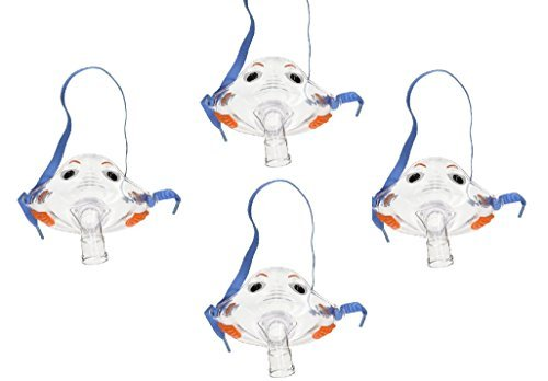 Pari Respiratory Bubbles the Fish II Pediatric Mask (4-Pack) (Plus Nebulizer)