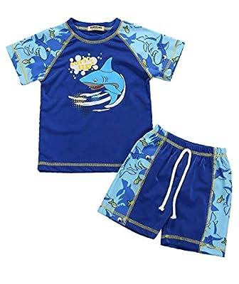 Boys Two Piece Baby Shark Swimsuits Kids Sunsuit Swimwear Sets