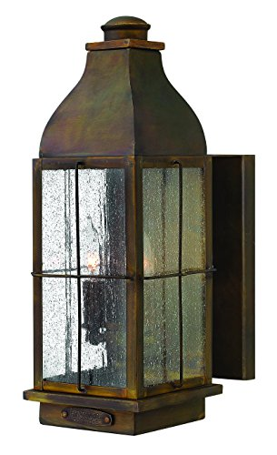 Hinkley 2044SN Restoration Two Light Wall Mount from Bingham collection in Bronze/Darkfinish,