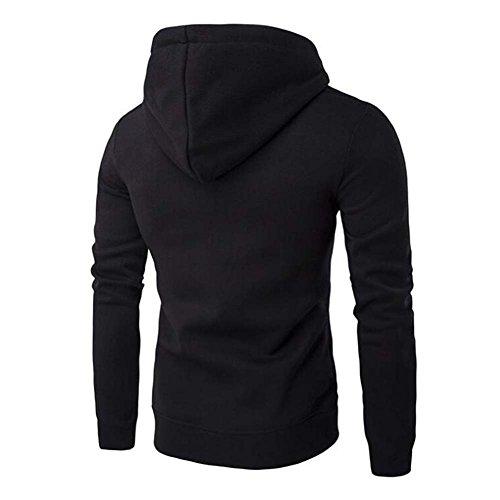 Outwear Zip Veste Noir Manches Hommes Sweatshirt Tops Hibote Manteau Couleur Pour Hommes Longues wz1qHxCXC